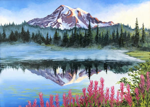 Painting of Mt Rainier Julie Kluh