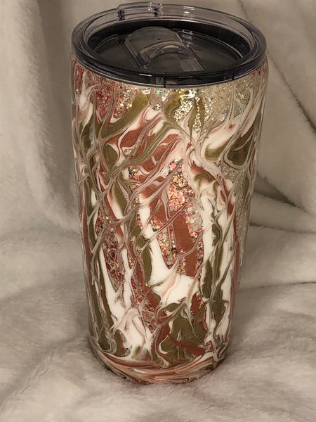 Rose Gold Shimmer 20oz Insulated Tumbler