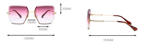 Carolyn - Rimless Sunglasses, WOMEN SUNGLASSES,VisionPro Glasses - Best Eyeglasses and sunglasses