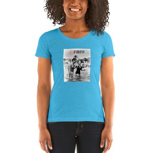 Bella + Canvas 8413 Ladies' Triblend Short Sleeve T-Shirt with Tear Away Label