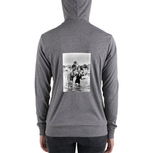 Load image into Gallery viewer, Bella + Canvas 3939 Unisex Triblend Lightweight Zip Hoodie with Tear Away Label
