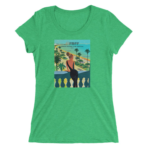 Ladies' short sleeve triblend t-shirt