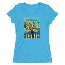 Load image into Gallery viewer, Ladies' short sleeve triblend t-shirt