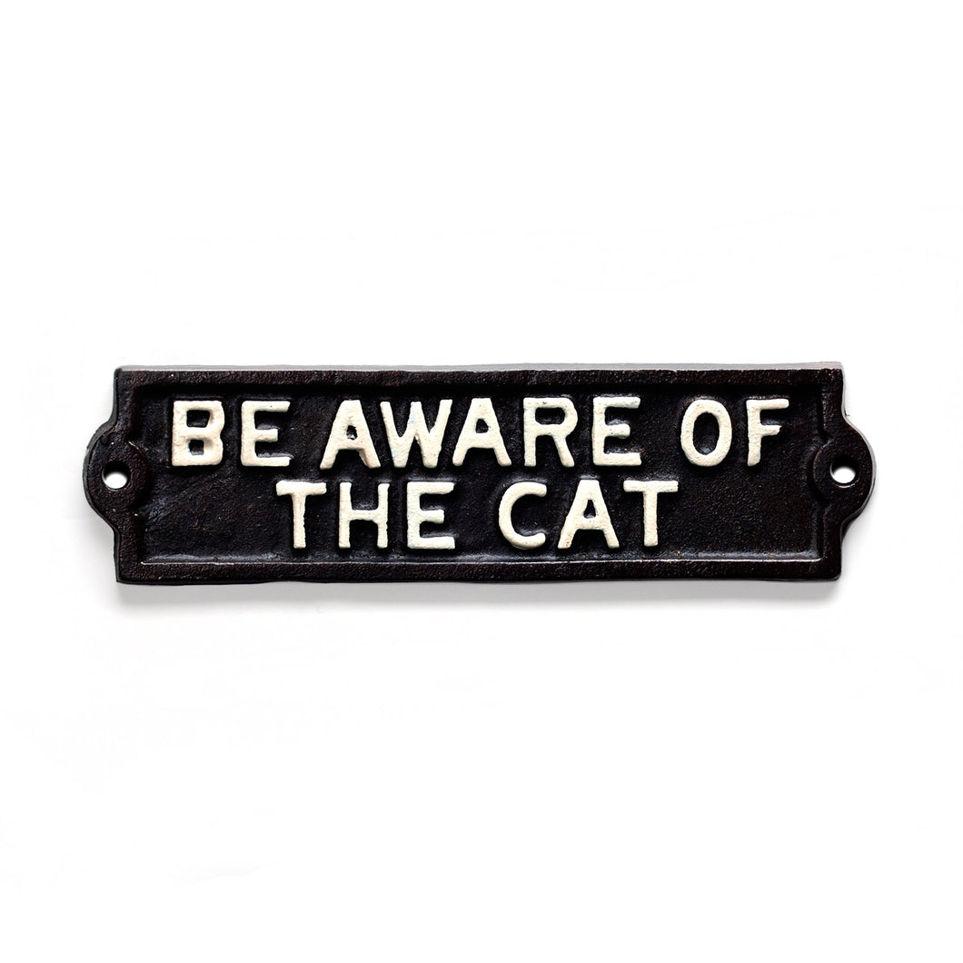 Sign-Be Aware of the Cat