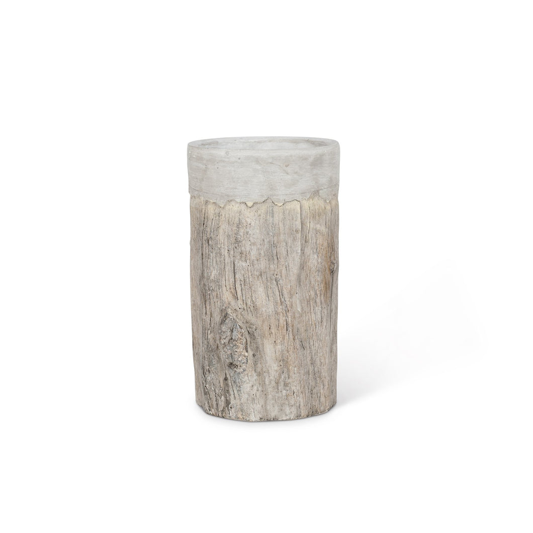 Tall Bark Vase/Cooler with Rim