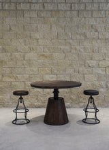 Bronx Crank Dining Table - Vinegar Matte BASE ONLY