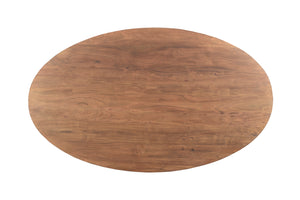 Aspen Oval Dining Table - Base - Brown Matte