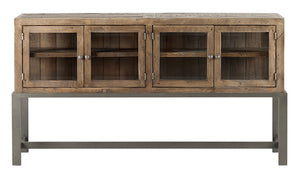 Santa Fe Sideboard w/Glass - Rustic Taupe