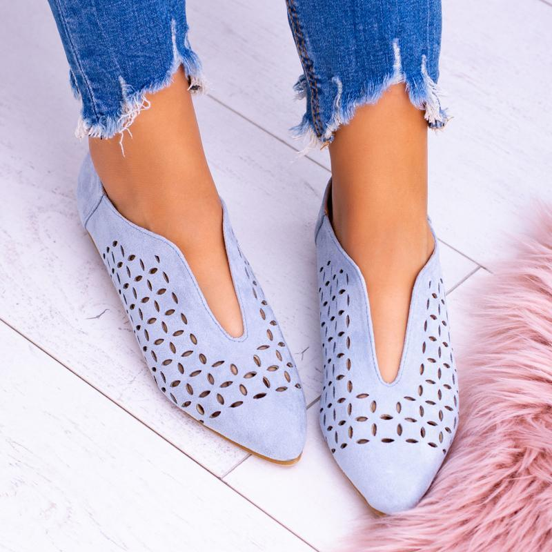 Casual Pointed Hollow Flat