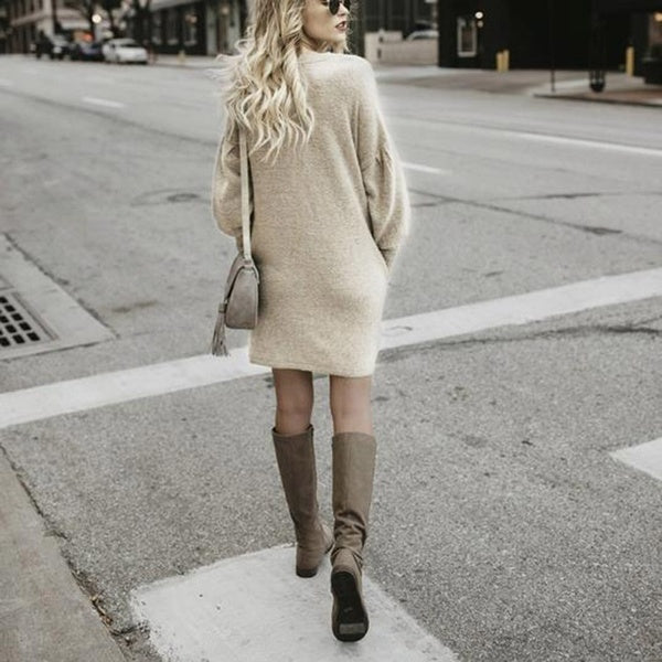 Fashion Women's Long-sleeved Casual Dress