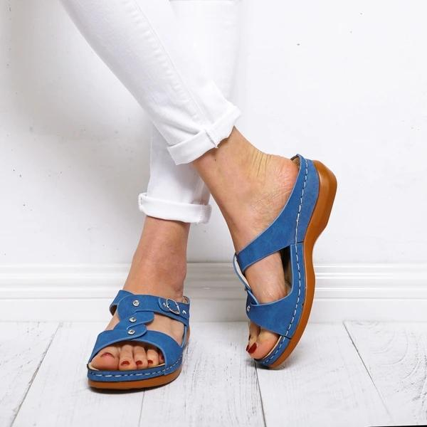 Summer Buckle Open Toe Women's Sandals