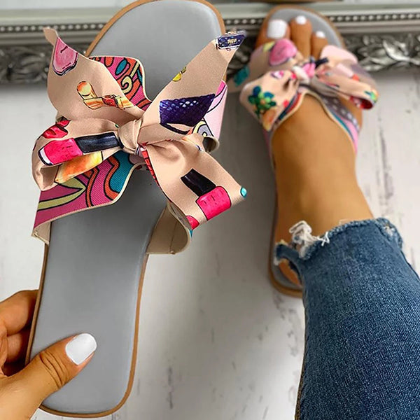 Women's Casual Bow Flat Sandals