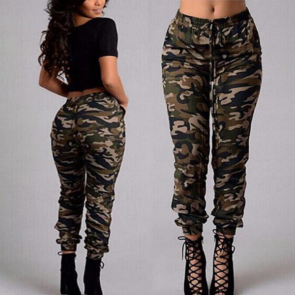 Camouflage Trousers Slim Foot Pant