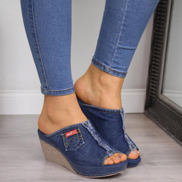 Casual Chunky Heel Peep Toe Summer Sandals