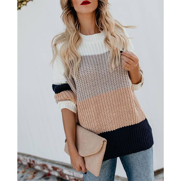 Long Sleeve Round Neck Loose Sweaters