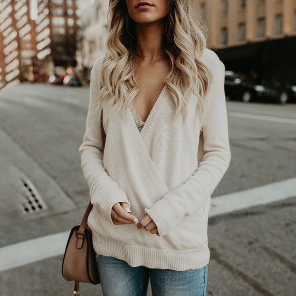 Loose Autumn Sexy Casual Blouses