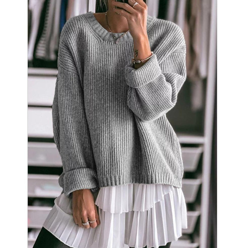 Fashion Women's Solid Color Long Sleeve Sweaters