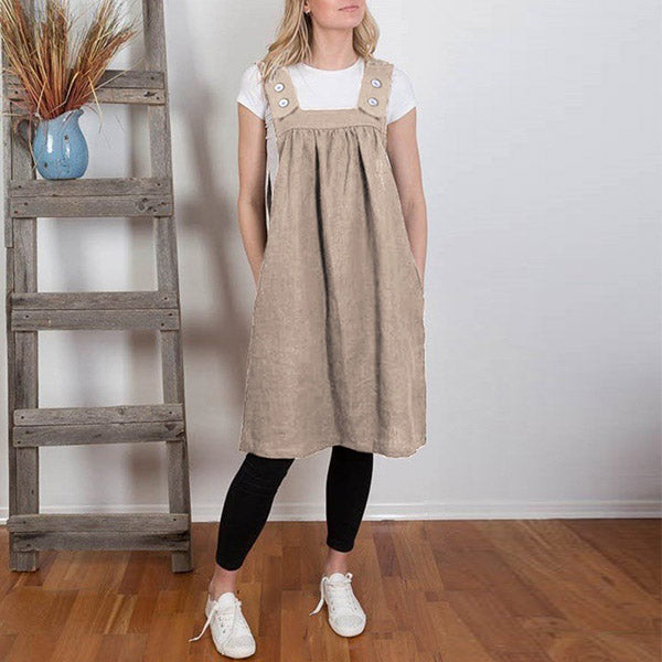 Daily Solid Color Comfy Sleeveless Dress