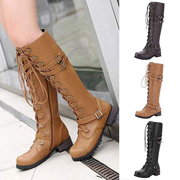 Women Casual Lace-Up High Boots