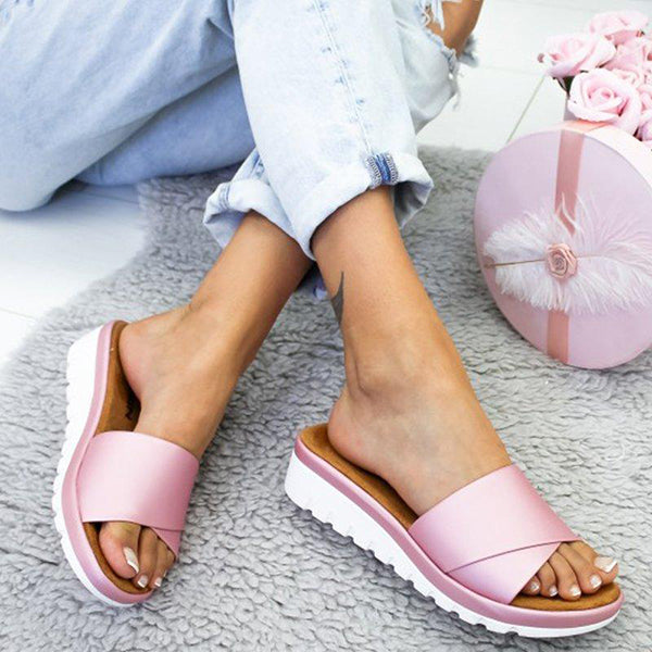 Casual Simple Slip-On Slippers