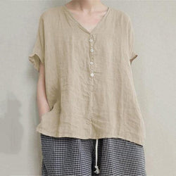 Fashion Loose Solid Color Simple Top