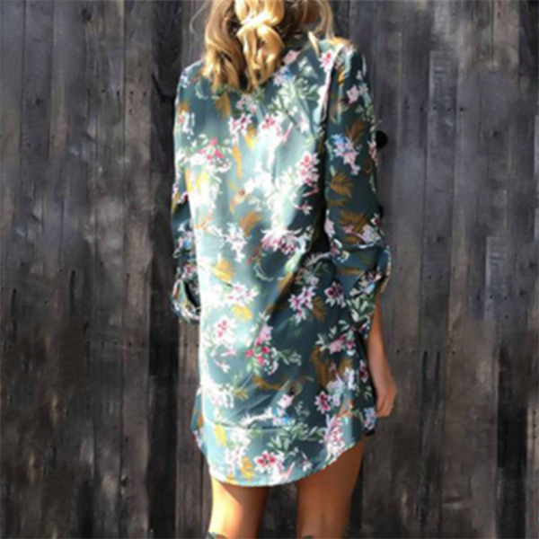 Casual Flower Printed Dress