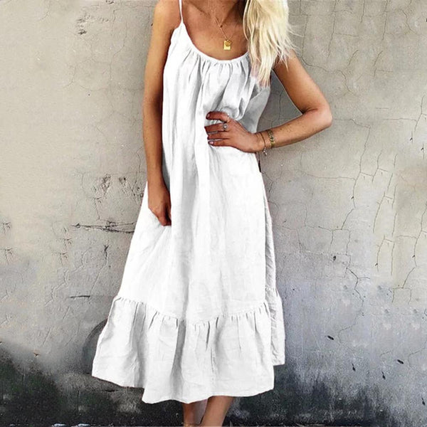 Sling Dress Cotton And Linen Dress