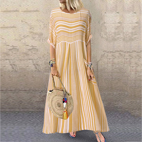 Summer Casual Round Neck Women Dress