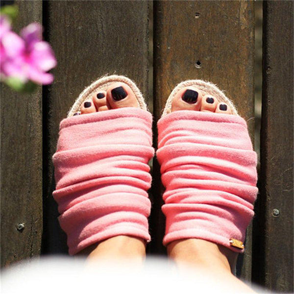 Fashion Solid Color Flat Slippers