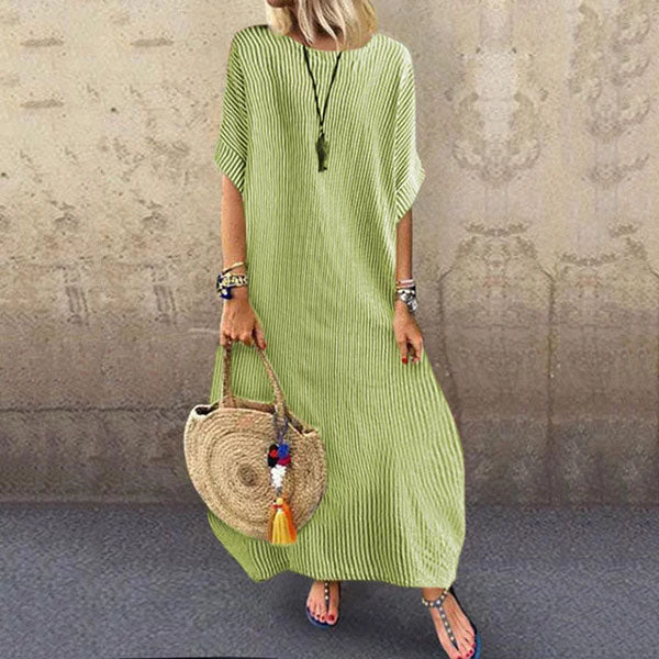 Casual Loose Stripe Maxi Dress