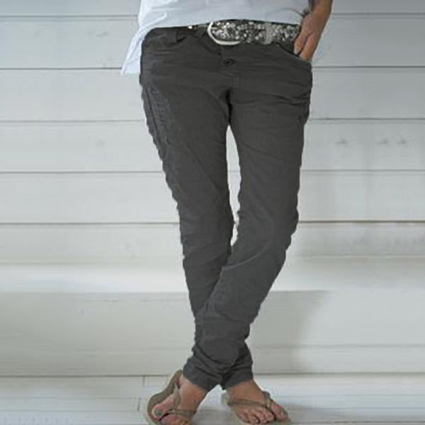 Fashion Plain Casual Pants