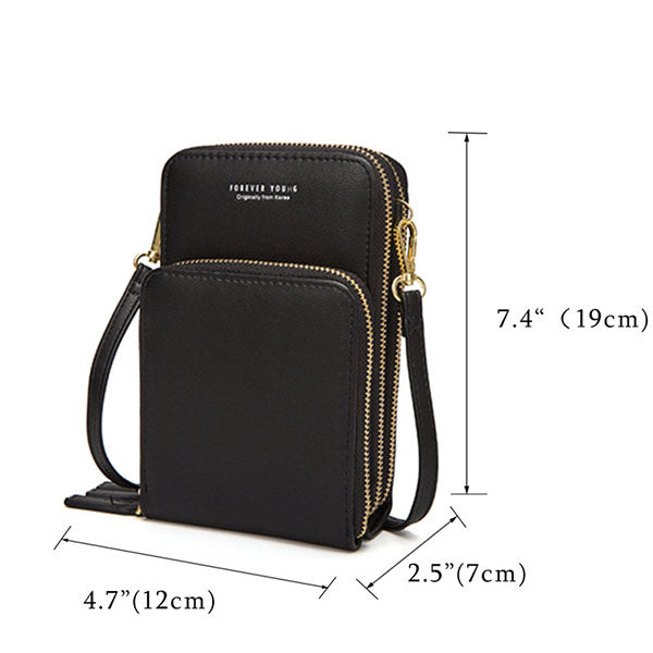 Casual Multi-Pocket Crossbody Phone Bag