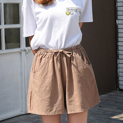 Five Point Wide Leg Shorts