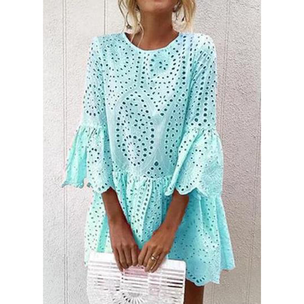 Summer 3/4 Sleeve Plus Size Dresses