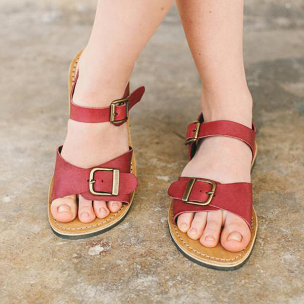Casual Summer Custom Buckle Strap Women Holiday Sandals