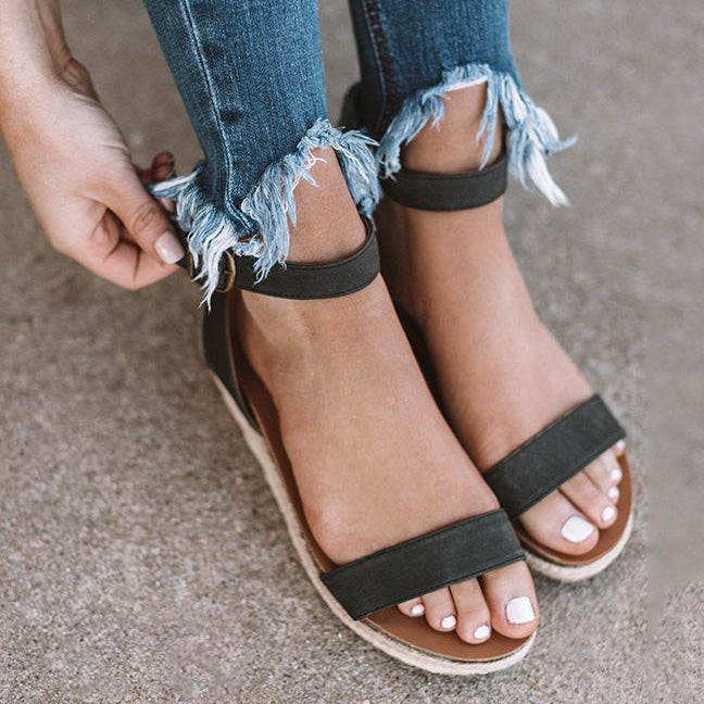 Espadrille Open Toe Sandals
