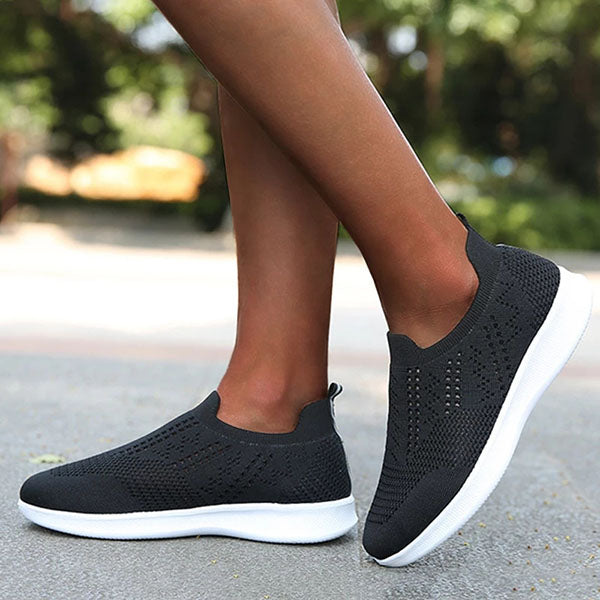 Hollow-out Slip-on Running Sneakers