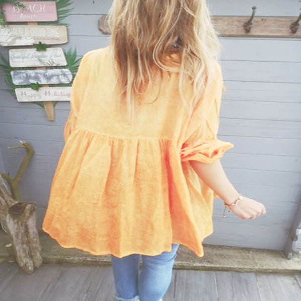 Plus Size Solid Color Blouse