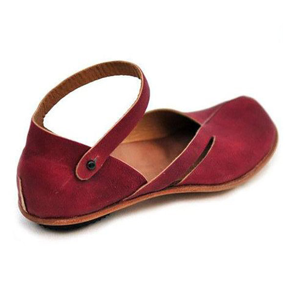 Solid Color Round Toe Flat Sandals