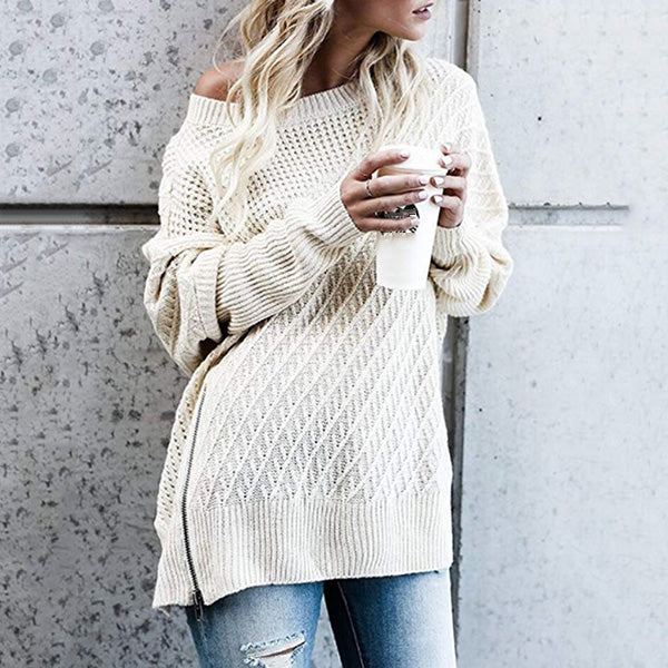 Autumn Batwing Sleeve Loose Sweaters
