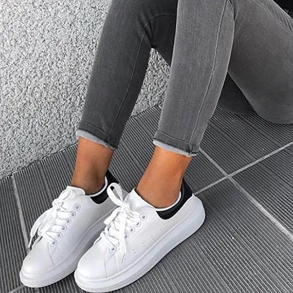 Women's Lace-Up Comfy Running Sneakers