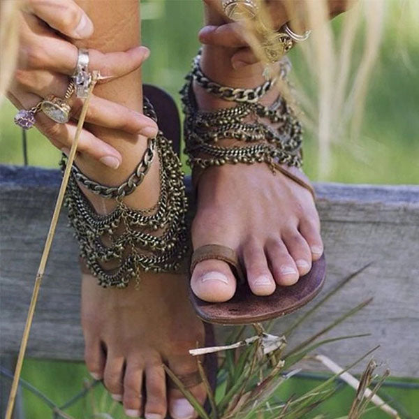 Boho Vintage Casual Vacation Sandals