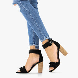 Chic Ruffle High Heel Sandals