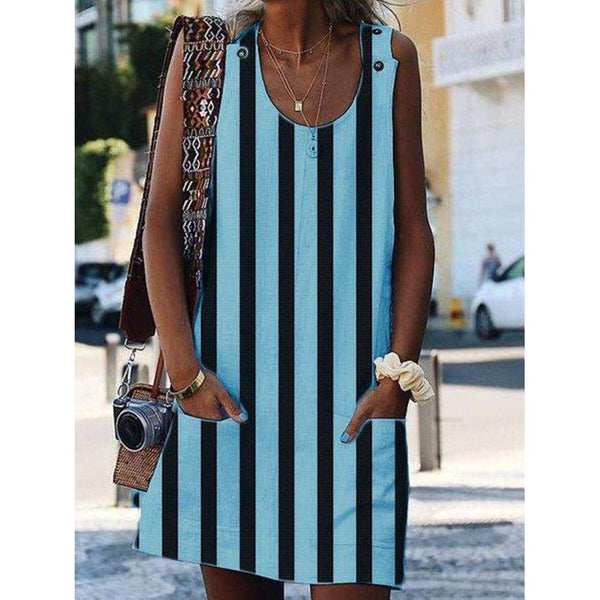 Summer Sleeveless Cotton Casual Dresses