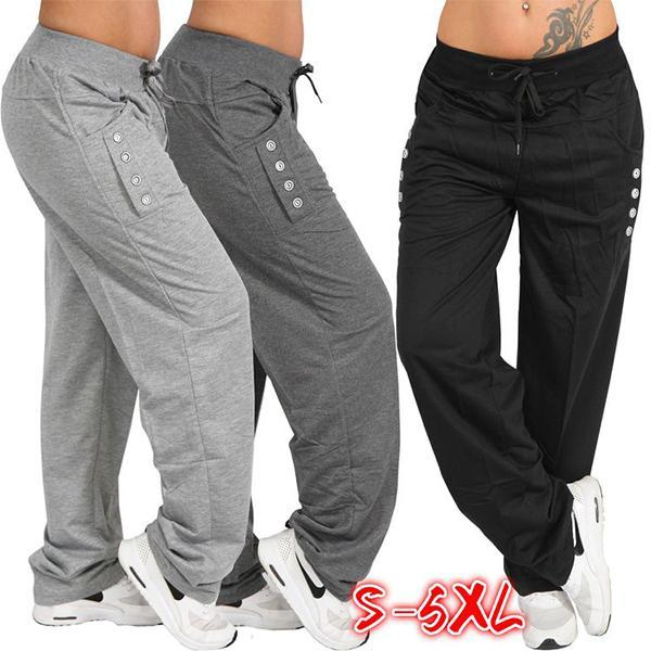 Casual High Waist Oversized Leggings Sports Pants