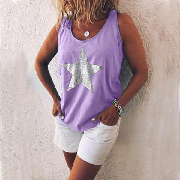 Summer Casual Round Neck Vests