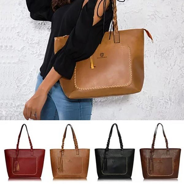 Large Capacity Vintage Shoulder Tote Handbag