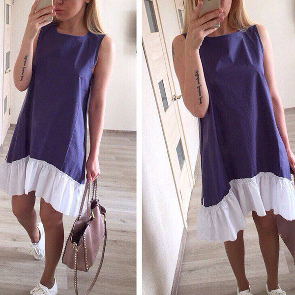 Casual Summer Round Neck Sleeveless Dress