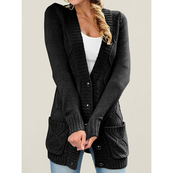Women's Plus Size Buttoned Outerwear Coats