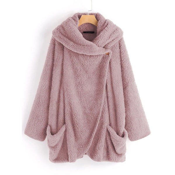 Women 's Casual Big Pockets Cloak Coats
